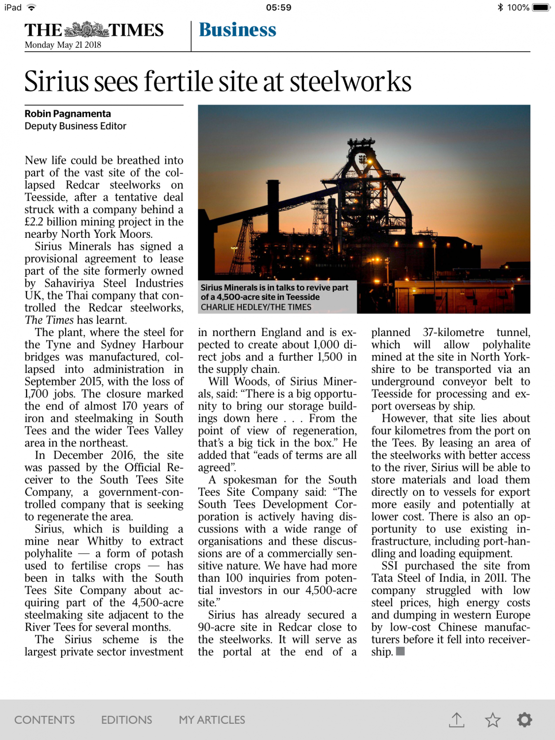 SXX) Sirius Minerals Share Chat | Page 170 | BlueShare