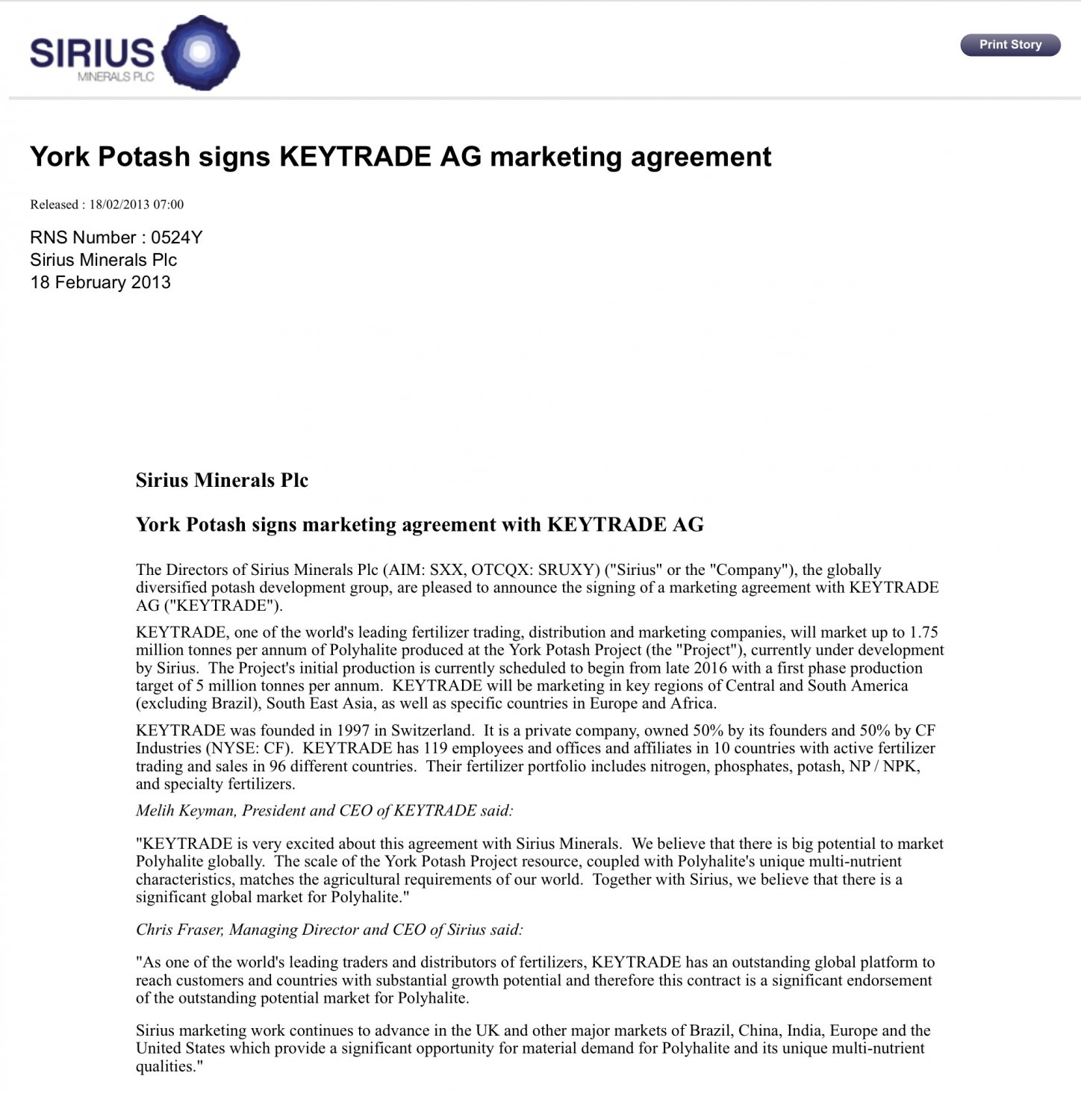 SXX) Sirius Minerals Share Chat | Page 150 | BlueShare